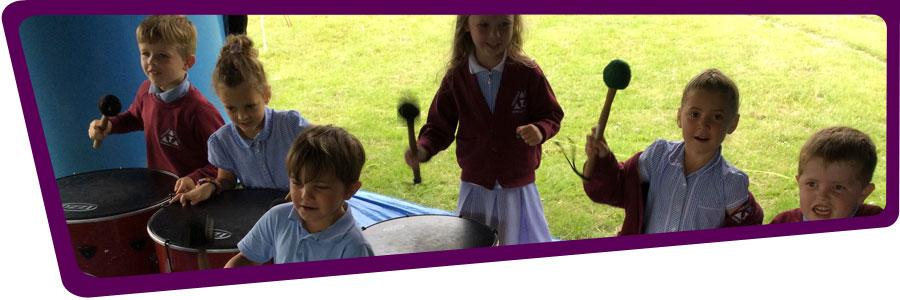 Primary school pupils at Venerable Edward Morgan School