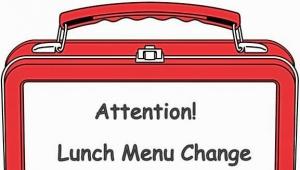 Change to School Lunch Menu