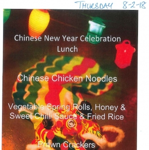 Chinese New Year Theme Day Menu