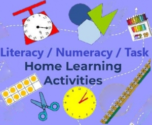 Literacy/Numeracy/Task Activities 8 Jun to 19 Jun 20