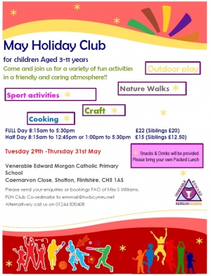 May Holiday Club - BOOK NOW!!