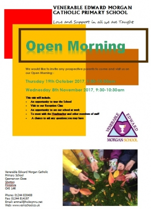 OPEN Morning - 19/10/17 & 8/11/17 9:30-10:30am