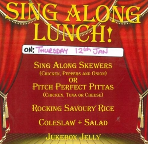 """Sing Along Lunch!"" - Guess the Movie"
