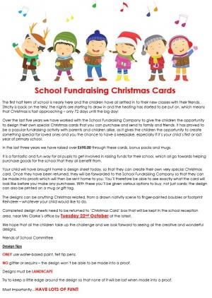 School Fundraising Christmas Cards