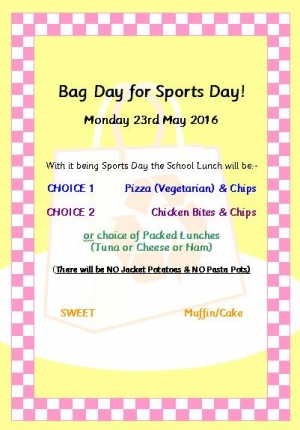 Sports Day is Bag Day